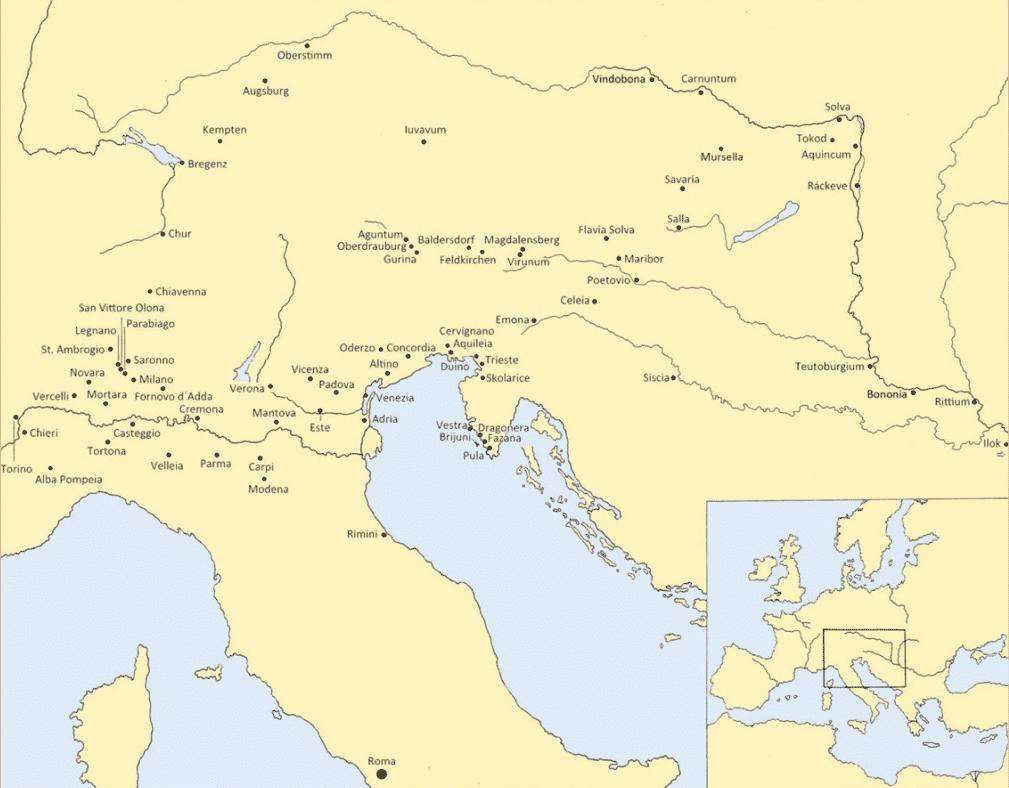 Distribution of Laecanius and Emperor amphorae.