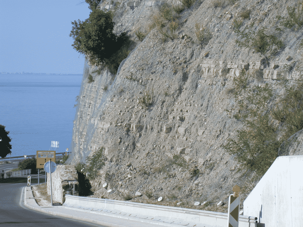 Flysch outcrop on the Northern part of Piran Bay, Northwest (Gray) Istria (Locality of field sample IST-60).