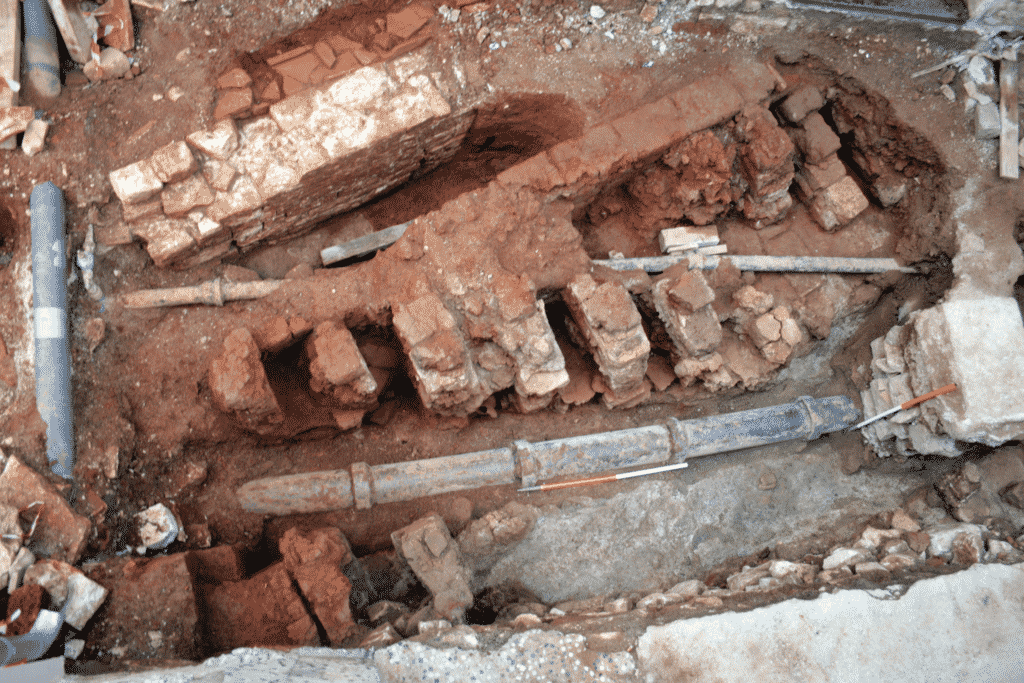 The remains of kiln B.