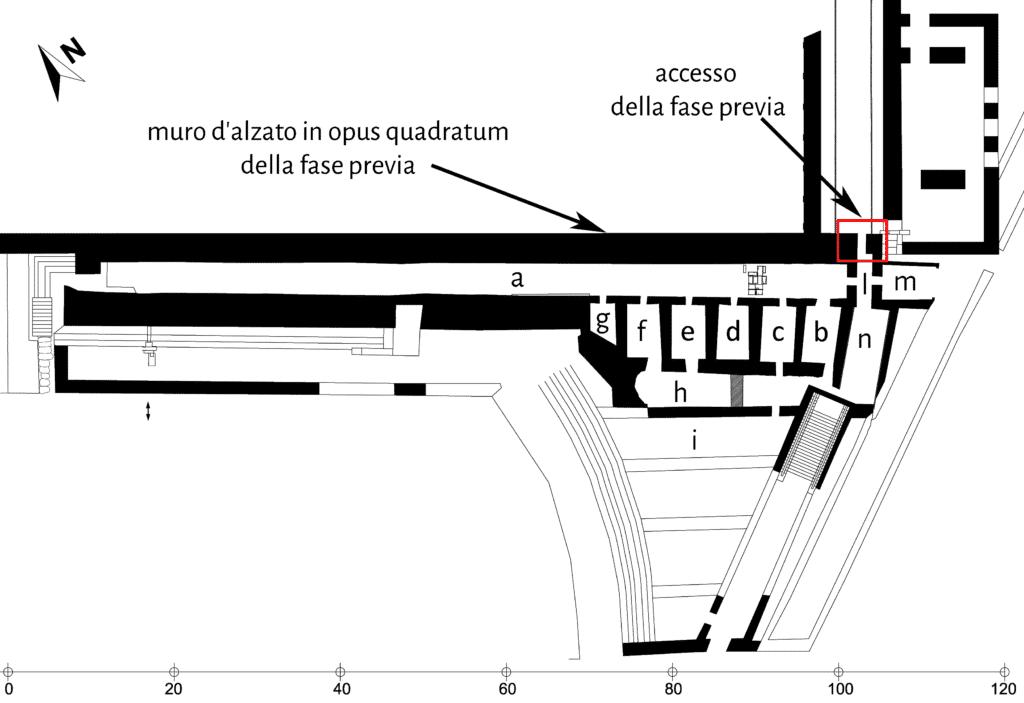Planimetria ricostruttiva del settore della Volta Llarga.