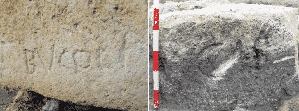 Marchi di cava CAS e BVCOLI provenienti dalla cava di El Mèdol.