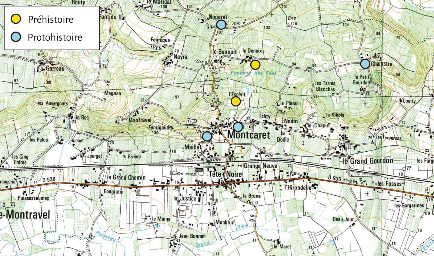 carte des sites