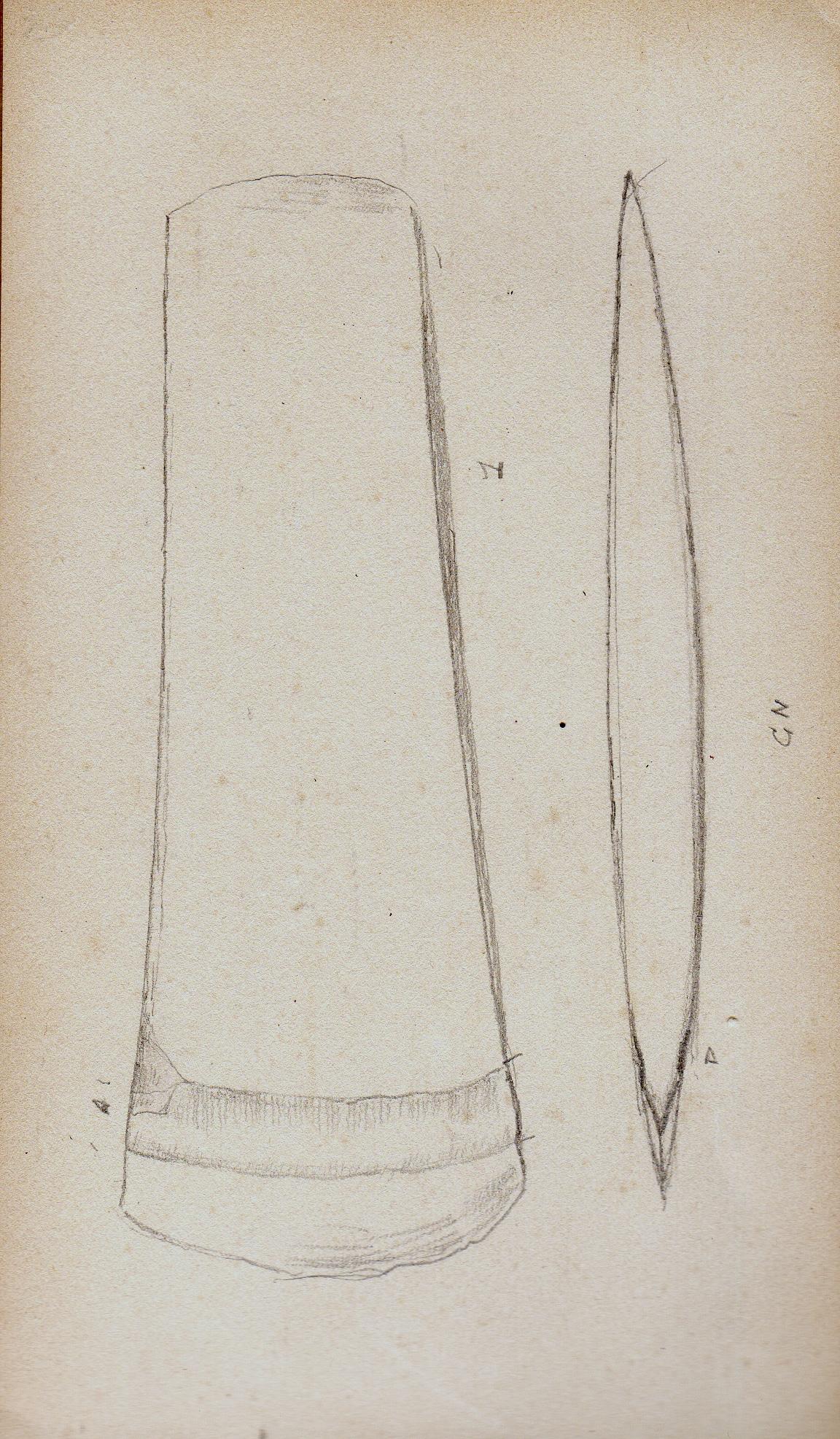 dessin d'une hache
