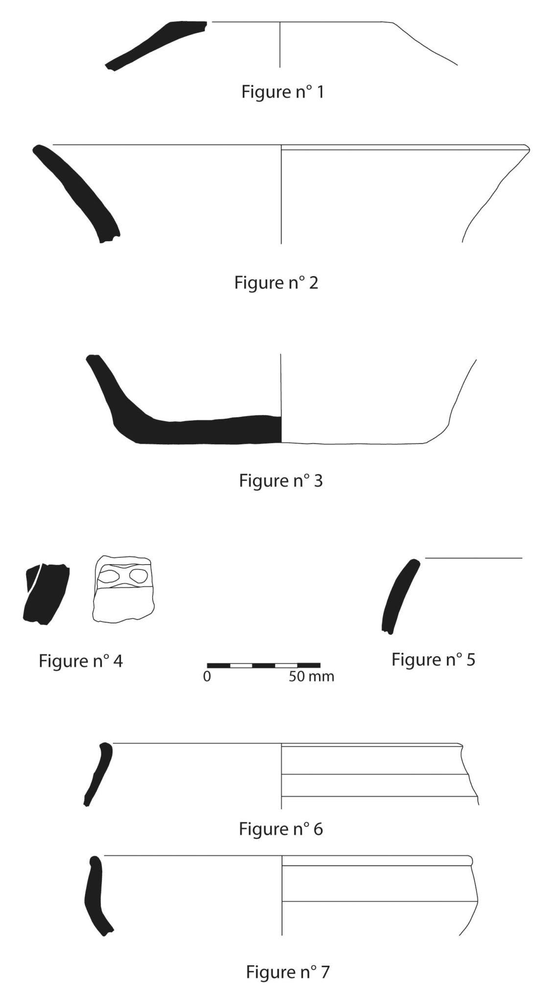 Planche de céramiques protohistoriques