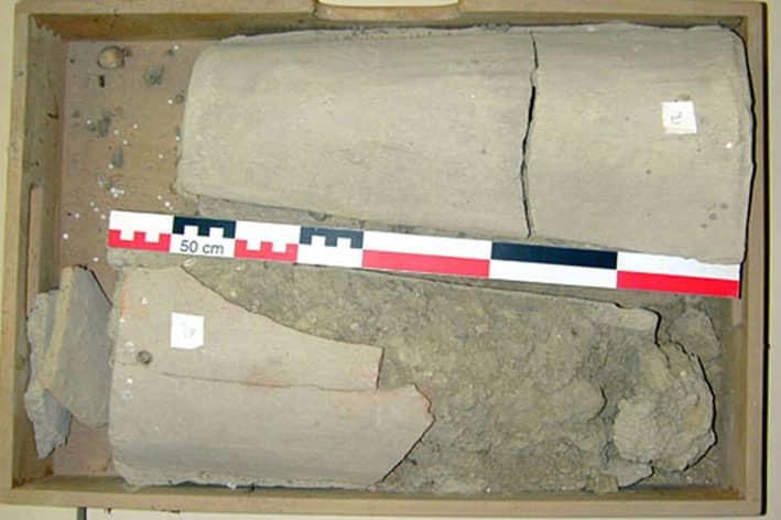 Sépultures 1 et 2 avant fouilles