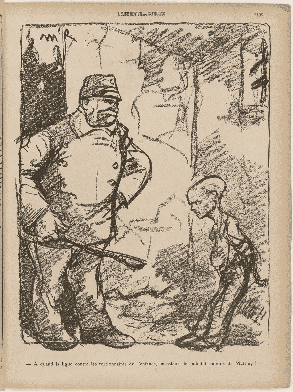 Fig. 16. Extrait de L'Assiette au beurre, n° 463, 12 février 1910, p.1599  (Bibliothèque nationale de France, département Réserve des livres rares, RES G-Z-337).